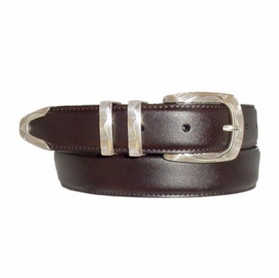 "1721 Italian Calfskin Leather Dress Belt - 1 1/8"" wide"
