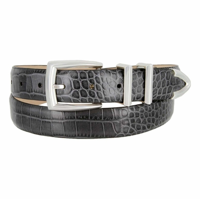 "1722 Italian Designer Leather Dress Belt - 1 1/8"" wide"