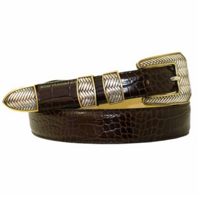1798 Italian Calfskin Leather Dress Belt - Available up to size 60""