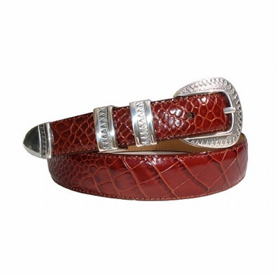 1822 Southwestern Style Calfskin Leather Dress Belt