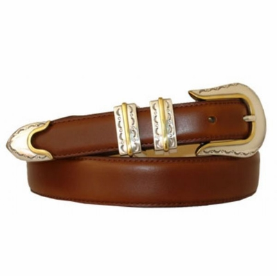 1823 Hand Dyed Western Leather DressBelt