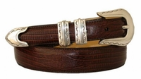 1824 Fullerton Western Calfskin Emboosed Leather Dress Belt