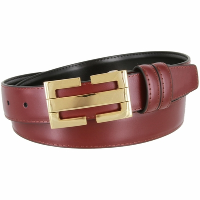 "1834 Office Dress Genuine Leather Belt - 1 1/8"" Wide"