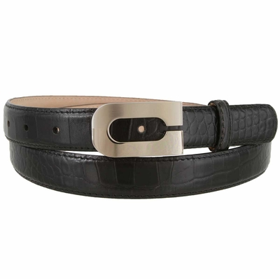 "1855 Italian Calfskin Embossed Leather Dress Belt - 1"" wide"
