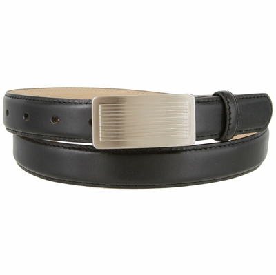 "1860 Italian Calfskin Smooth Leather Dress Belt - 1"" wide"