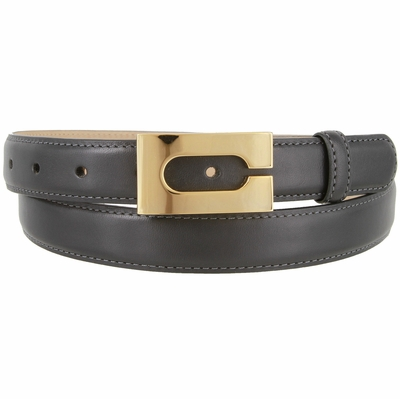 "1861 Italian Calfskin Smooth Leather Dress Belt - 1"" Wide"