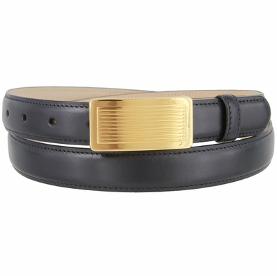 "1865  Italian Calfskin Smooth Leather Dress Belt - 1"" wide"