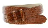 "1905 Alligator Grain Belt Strap - 1 1/8"" wide TAN"