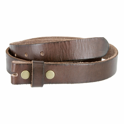 "1917 Vintage Full Grain Leather Belt Strap - 1 1/8"" Wide BROWN"
