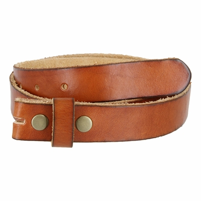 "1917 Vintage Full Grain Leather Belt Strap - 1 1/8"" Wide TAN"