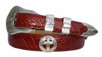 """2048 Christian Cross Western Leather belt - Up to size 60"""""""