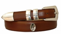 2099 Men's Italian Calfskin Hand Dyed Leather Golf Belt