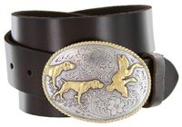 "2159 Hunter Full Grain Leather Jean Belt - 1 1/2"" wide - Available in size 60"""