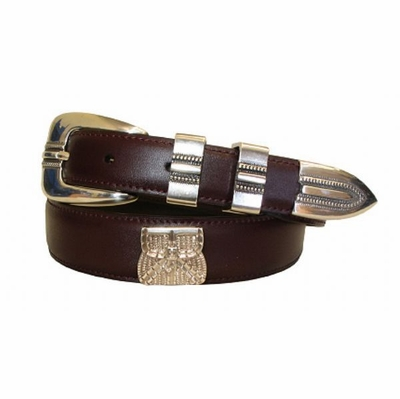 2199 Hunting Basket Concho Leather Dress Belt - CORDOVAN