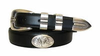 2201 RAM Concho Leather Dress Belt
