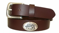 "2210 Hunting Dogs Leather Belt - 1 1/4"" wide"