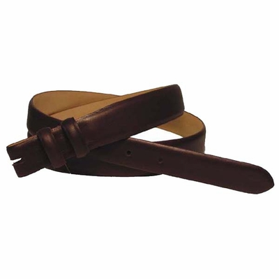 """2276 Smooth Leather Belt Strap Taper 1 1/8"""" to 1"""" wide - BROWN"""