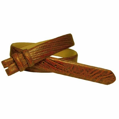 "2278 Lizard Grain Belt Strap Taper 1 1/8"" to 1"" wide - TAN"