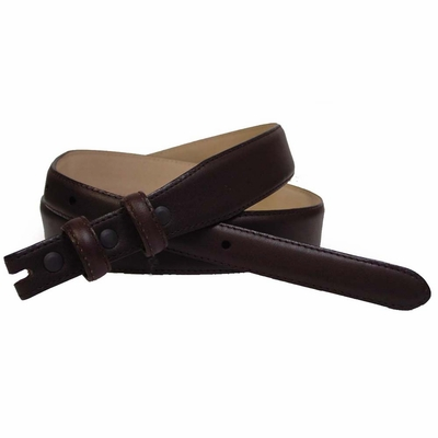 "2280 Smooth Leather Belt Strap Taper 1 1/8"" to 3/4"" wide - BROWN"