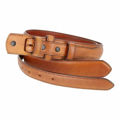 "2288 Genuine Leather Ranger Belt Strap 1-1/8"" tapering to 3/4"" wide - TAN"