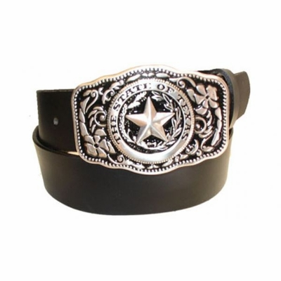 """2352XL State Of Texas Full Grain Leather Casual Belt - 1 1/2"""" wide - Available in size 60"""""""