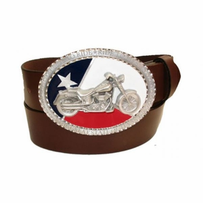 "2360 Texas biker Full Grain Lather Belt - 1 1/2"" wide"
