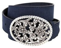 "NEW!!! 2413 Women's Casual Suede Leather Belt - 1 1/2"" Wide - 8 Colors Available"