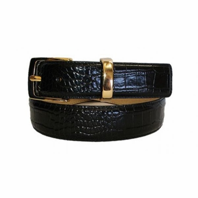 "2439 Dress Italian Calfskin Leather Belt - 1 3/8"" wide"