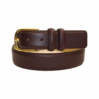 2442 Calfskin Leather Dress Belt - 1 3/8""