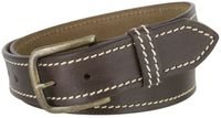 "NEW!!! 2443 Casual White Stitched Leather Belt - 1 1/2"" Wide - 2 Colors Available"