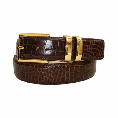 "2444 Italian Calfskin Leather Dress Belt - 1 3/8"" wide"