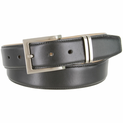"2454 Designer Italian Calfskin Leather Dress Belt - 1 3/8"" Wide"