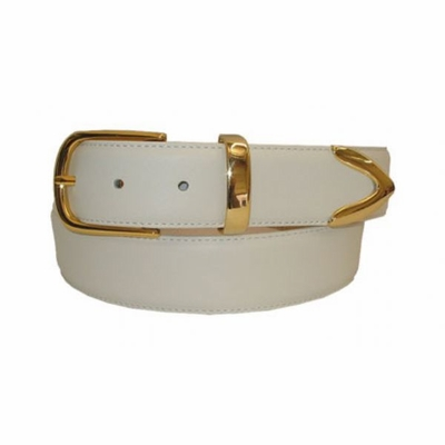 2458 Italian Calfskin Leather Dress Belt - 1 3/8""