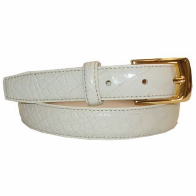 "2495 Italian Calfskin Leather Belt - 1"" wide"