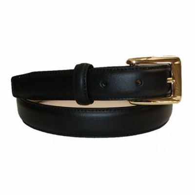 "2497 Italian Calfskin Leather Dress Belt - 1"" wide"
