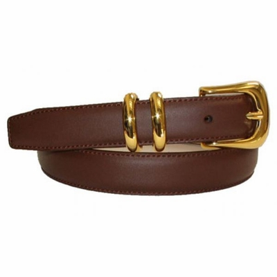 "2499  Calfskin Leather Dress Leather Belt - 1"" wide"