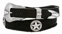 2508 Silver Star Conchos Genuine Leather Western Belt