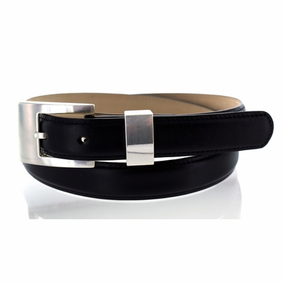 "2514 Italian Calfskin  Leather Dress Belt - 1"" wide"