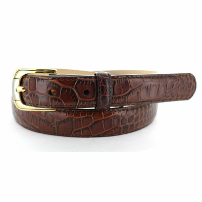 "2518 Embossed Leather Dress Belt - 1"" wide"