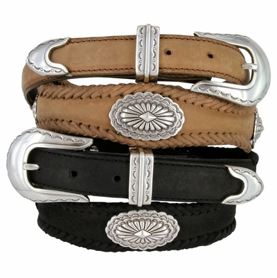 2522 Southwestern Style Conchos Leather Western Belt