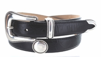 "2523 Mirror Women's Western Leather Dress Belt - 1"" Wide"