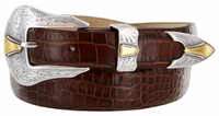 2524 Western Italian Calfskin  Men's Leather Dress Belt