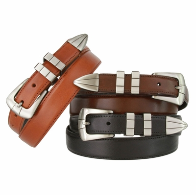 2535 Men's Italian Calfskin Hand Dyed Leather Dress Belt