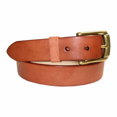 "2543 Casual Leather Belt 1 1/4"" Tan"