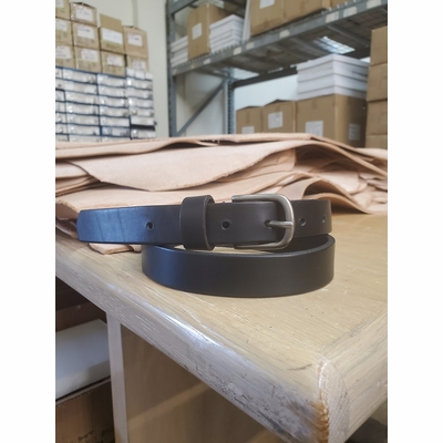 "2555 Casual Leather Belt  - 1"" wide BLACK"