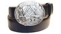 "2577 MASON Full Grain Leather Belt - 1 1/2"" wide - Available in size 60"""