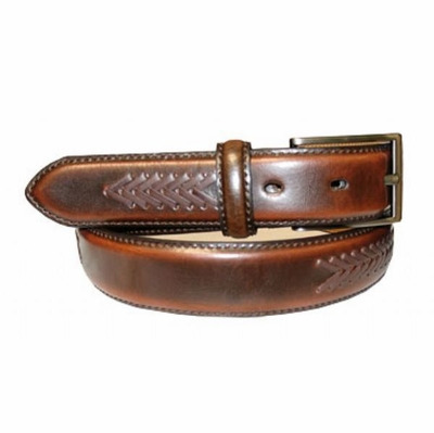 "2677 Lacing Brown Dress Belt - 1 1/8"" wide"