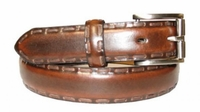 "2700 Roller Lacing Edge Dress Belt - 1 1/8"" wide Brown"