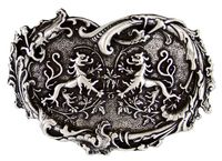 HA1699 Twin Dragons Heart Shape Belt Buckle