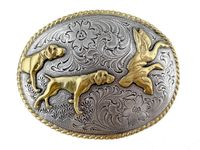 H8158 Hunting Dogs Western Cowboy Belt Buckle